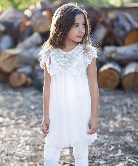 5c778cf86 Trish Scully Child White Emily Lace Dress - Girls