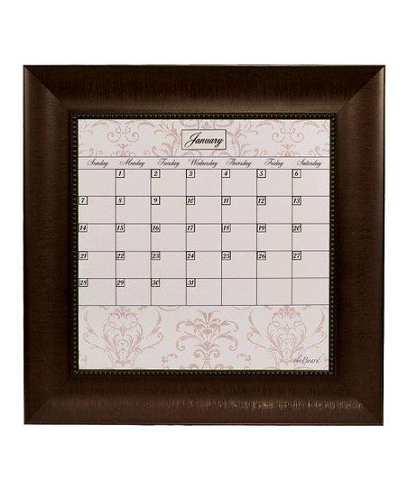 Ala Board Brown Contrast Square Framed Dry Erase Calendar Zulily