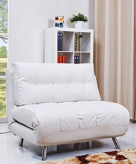 Sensational Gold Sparrow White Tampa Convertible Big Chair Bed Inzonedesignstudio Interior Chair Design Inzonedesignstudiocom
