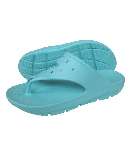 a6b74132f307 love this product Turquoise Rhinestone Party Sandal - Women