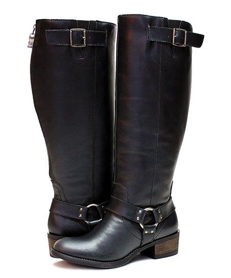 5fa4a0dd6d6 Vestiture Black Alamo Extra Wide-Calf Leather Boot - Women