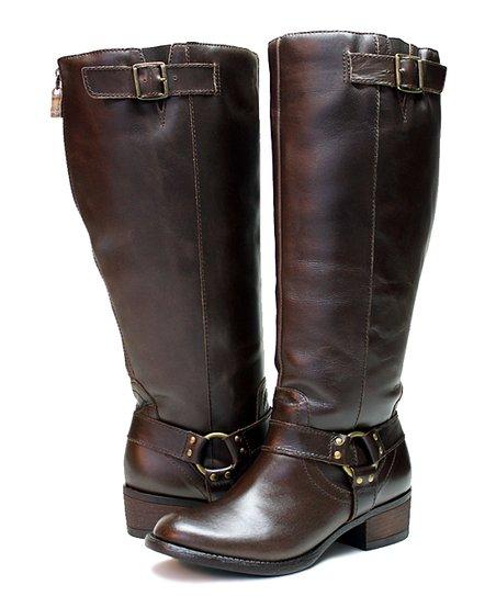 96e8a15e637 Vestiture Cocoa Alamo Extra Wide-Calf Leather Boot - Women