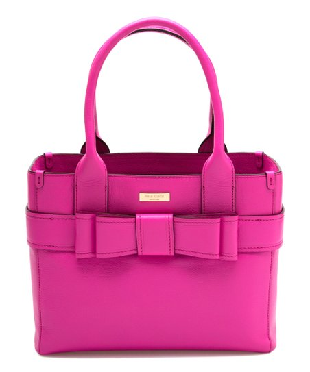 Stunning Pink Quinn Villabella Leather Tote
