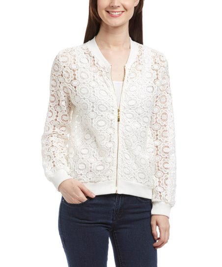 2f28eeb00f19d love this product White Sheer Embroidered Jacket
