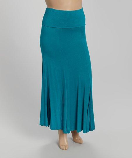 f2d07ced5 Poliana Plus Aqua Maxi Skirt - Plus   Zulily