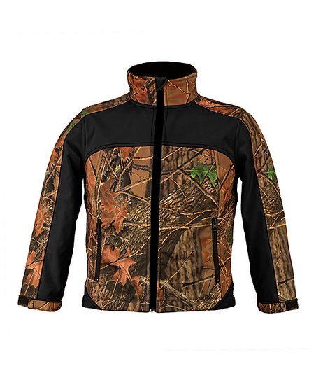 d4db92c9a2df3 Trailcrest Black Camo XRG Soft Shell Jacket - Kids | Zulily