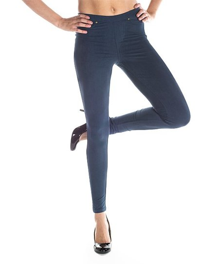 249ceb4fbf love this product Peacoat Faux Suede Leggings - Women