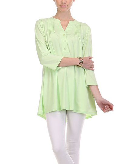 12f07cea22368 love this product Sage Pin Tuck Button-Front Top - Women