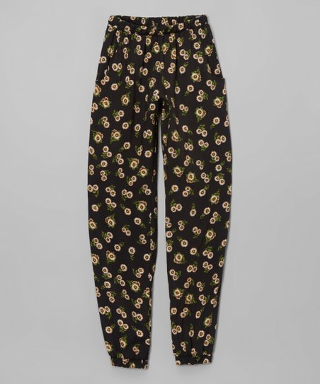 Love   Sunflowers Black Sunflower Lounge Pants  2f8674ae1