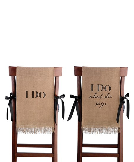 Awe Inspiring Lillian Rose I Do Burlap Chair Cover Set Of Two Gmtry Best Dining Table And Chair Ideas Images Gmtryco