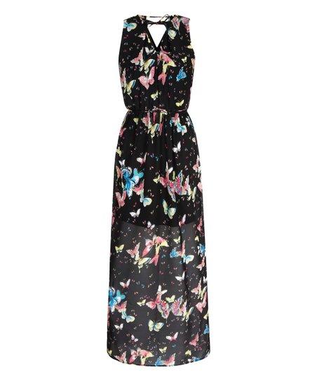 catch new release reputable site Iska London Black Butterfly Maxi Dress | Zulily
