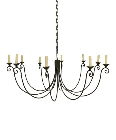 Décor Therapy Weathered Zinc 10-Light Chandelier