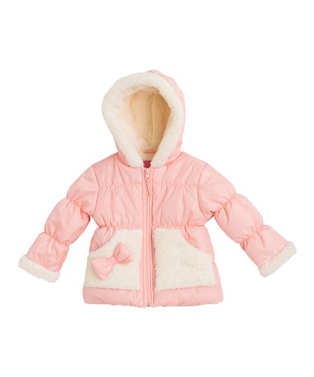 6400a22e1800 Wippette Coral Bow Puffer Jacket - Infant   Toddler