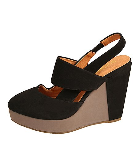 e5da9db0c41 Nomad Footwear Black   Gray Melrose Platform Wedge