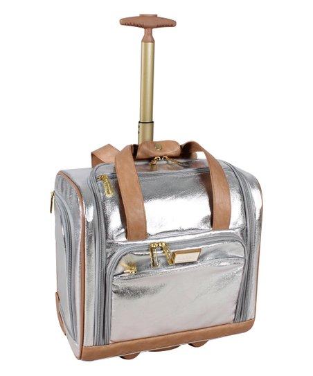 c106b0f53ac2 Nicole Miller New York Silver Logan Under-Seat Carry-On Bag