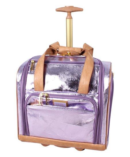 a3376d44dc5b Nicole Miller New York Purple Logan Under-Seat Carry-On Bag