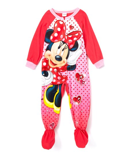 54283f38a Mickey Mouse   Minnie Mouse Pink Minnie Mouse Blanket Sleeper ...