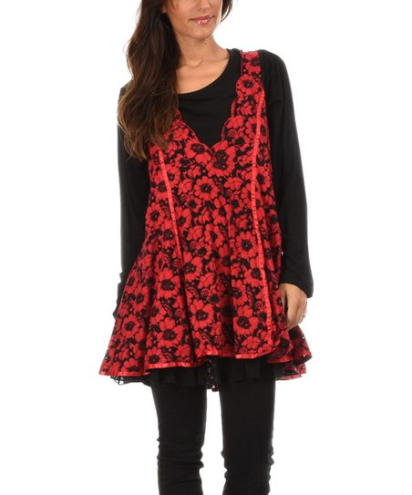 Pomme Rouge Floral Print Tunic Summer Collection Women
