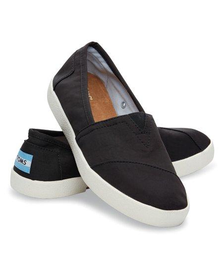 3240463712a TOMS Black Nylon Avalon Sneaker