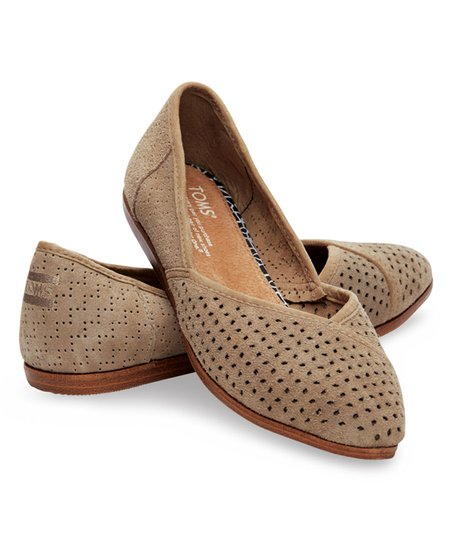 TOMS Taupe Perforated Jutti Classic