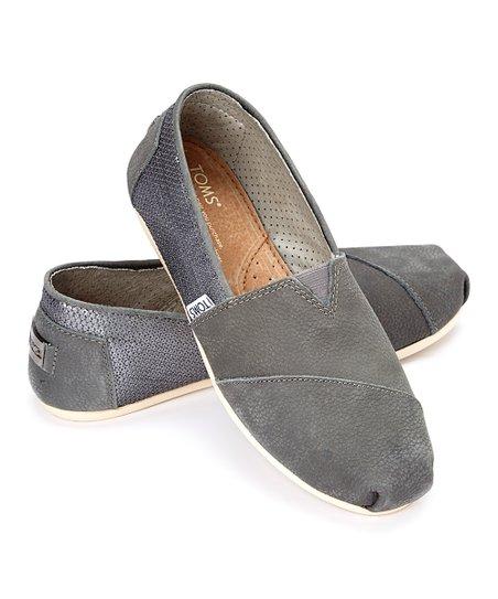 96cb4e7ca TOMS Gray Metallic Sequin Leather Classics | Zulily