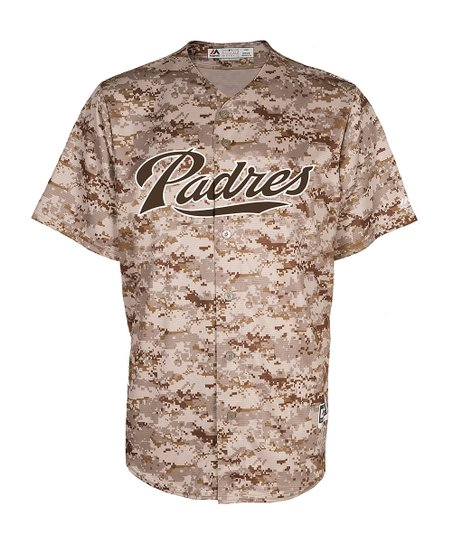 big sale 7244b 12613 San Diego Padres Camo Jersey - Big & Tall