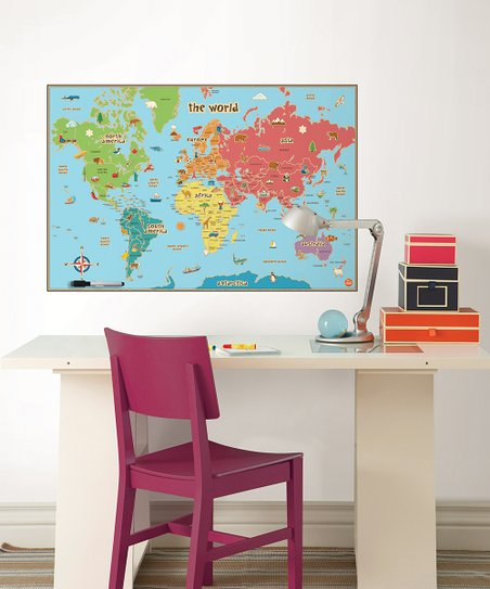 WallPops! Kids World Dry-Erase Map Decal | Zulily