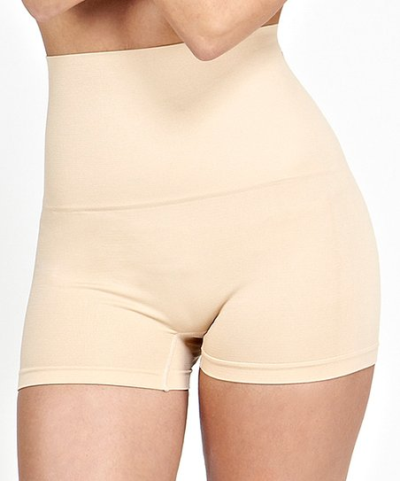 814be1a77d787 love this product Nude Moderate Compression High-Waist Tummy Shaper Shorts  - Women