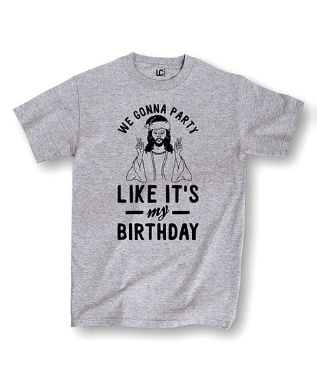 Athletic Heather Party Like Its My Birthday Tee