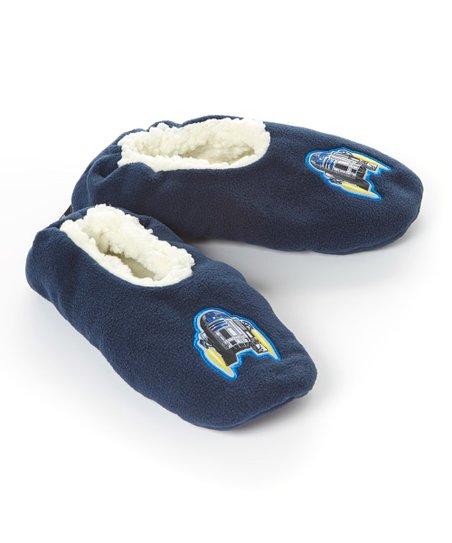 3207e678615 love this product Navy Star Wars R2-D2 Fuzzy Babba Slipper Socks - Boys