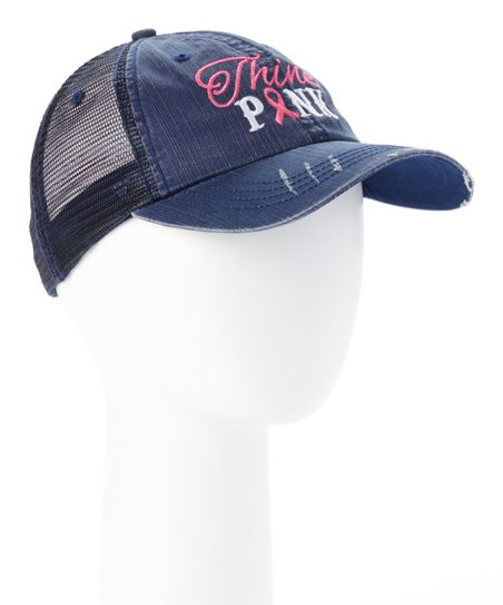 17fb1c360b2cb love this product Navy Blue  Think Pink  Embroidered Trucker Hat