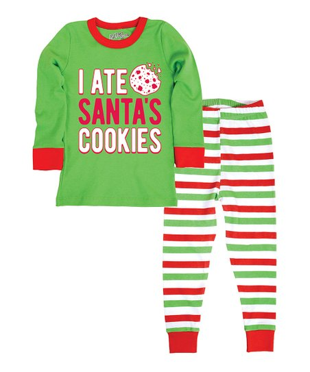 love this product Green  I Ate Santa s Cookies  Pajama Set - Infant eacb4623a