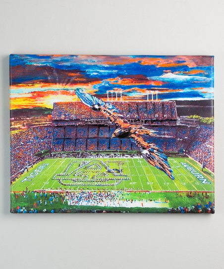 Auburn Tigers Ascending to New Heights Wrapped Canvas