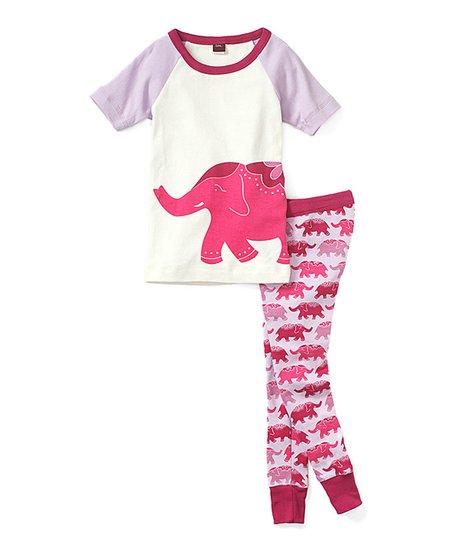 a662f8ca967d Tea Collection Primrose Elephant Ride Pajama Set - Toddler   Girls ...