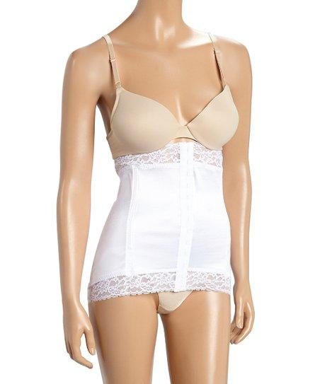 50e9d1e1ab8 love this product White Lace-Trim High-Waist Cincher - Plus Too