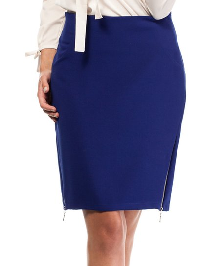 431d096ce1 love this product Royal Blue Side-Zip Pencil Skirt