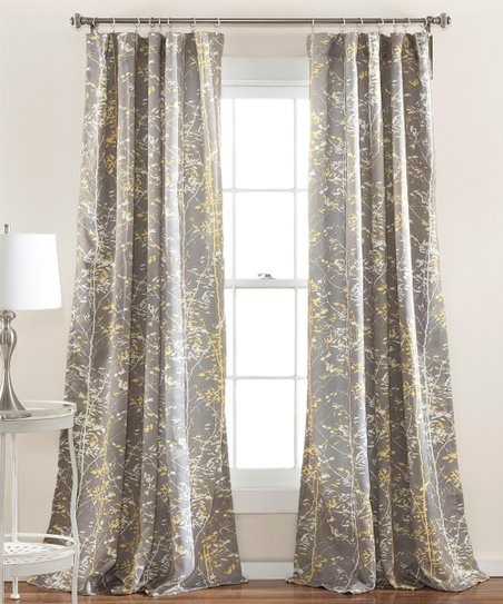 Love This Product Gray Yellow Woodland Curtain Panel Set Of Two