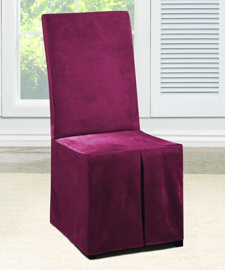 Prime Sure Fit Garnet Chenille Dining Chair Cover Gmtry Best Dining Table And Chair Ideas Images Gmtryco