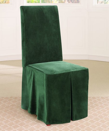 Magnificent Sure Fit Evergreen Soft Touch Velvet Dining Chair Cover Zulily Uwap Interior Chair Design Uwaporg