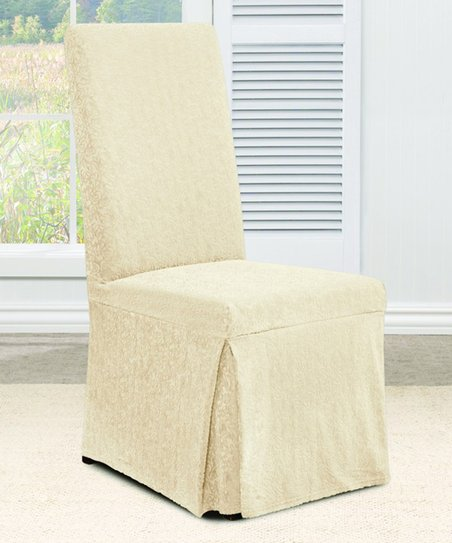 Groovy Sure Fit Vanilla Stretch Ava Dining Chair Cover Zulily Gmtry Best Dining Table And Chair Ideas Images Gmtryco