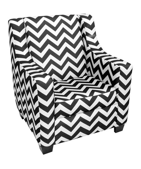 Astonishing Komfy Kings Inc Black White Chevron Chair Zulily Bralicious Painted Fabric Chair Ideas Braliciousco