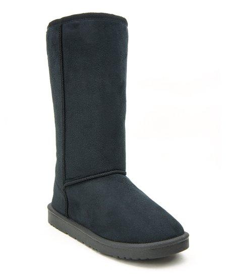 f22687b284ec6 Chulis Footwear Black Faux Fur Boot - Women