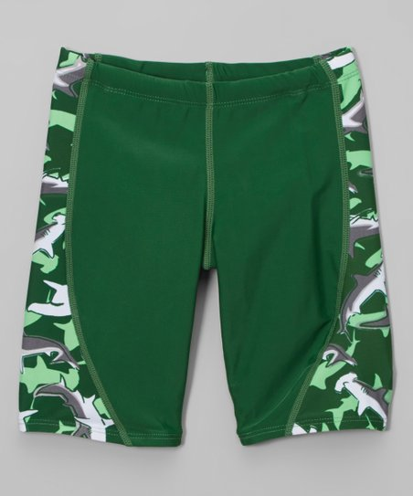0948c61fe4 Tuga Sunwear Sea Grass Shark Jammer Swim Shorts - Tween | Zulily