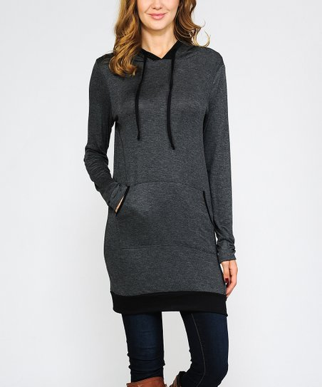 03e769bb53d love this product Charcoal & Black Hooded Tunic