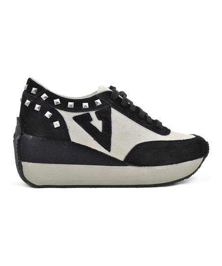 c7ab89ca715 Volatile Black   Gray Cody Leather Platform Sneaker