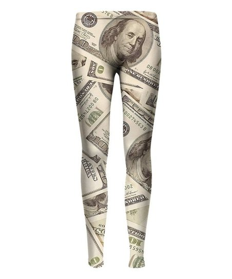 565d9ebe492b61 Mr. Gugu & Miss Go Green 100 Dollar Bill Sublimation Leggings ...