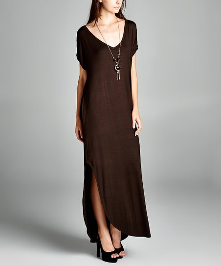 8581b309d8ab Dark Chocolate Pocket Maxi Dress