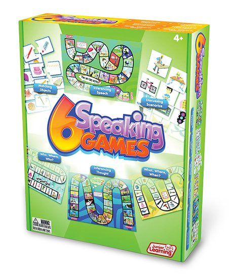 Junior Learning Six Speaking Games Box Set Zulily