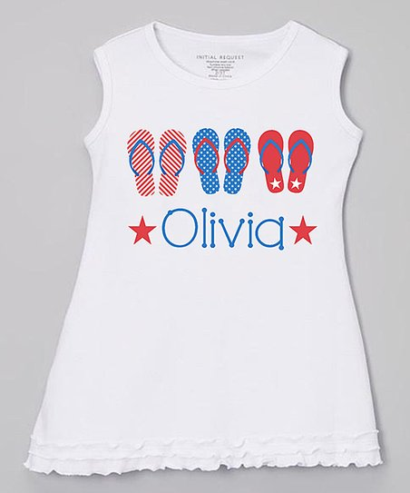 fc01e8e01031 love this product White Flip-Flop Personalized Dress - Infant