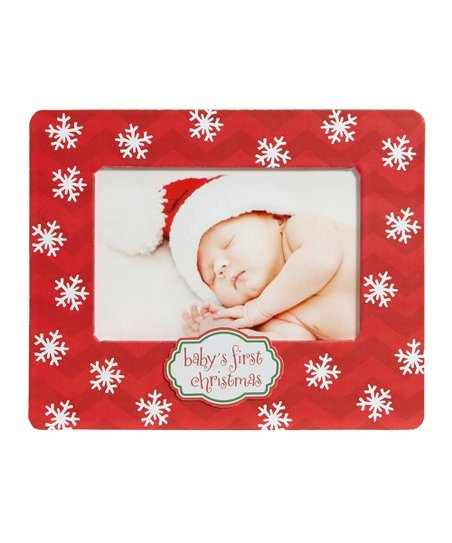 Cr Gibson Baby Red White Babys First Christmas Frame Zulily